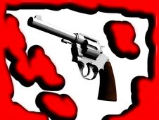Free The Gun With Blood Stock Photography - 4921052