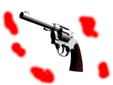 Free The Gun With Blood Stock Image - 4921081