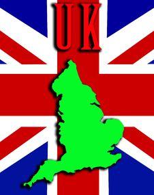 Free England With Union Jack 15 Stock Photo - 4921280