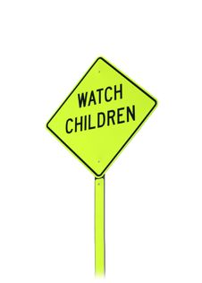 Free Watch Children Sign Stock Image - 4921421