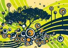 Free Grunge Tree Design Royalty Free Stock Photography - 4922337