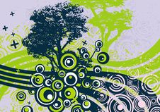 Free Grunge Tree Design Royalty Free Stock Photography - 4922367
