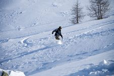 The Snowboarder (extreme Sport) Stock Photos