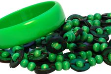 Free Green Bracelet And Beads Royalty Free Stock Images - 4923409