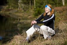 Active Woman At The Lake Stock Photos