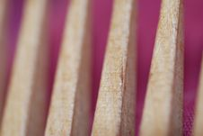Free Wooden Comb Abstract Royalty Free Stock Photography - 4923807