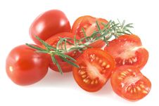 Free Cherry Tomatoes And Thyme. Royalty Free Stock Images - 4924049