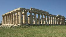 Greek Temple Paestum Royalty Free Stock Image