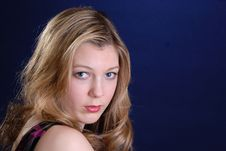 Attractive Blonde Teenage Girl Royalty Free Stock Image