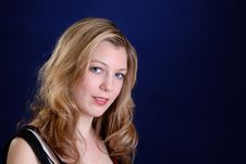 Attractive Blonde Teenage Girl Royalty Free Stock Photos