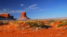 Rock Formations In Monument Valley Royalty Free Stock Photo