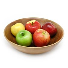 Free Fresh Apples In A Bowl Stock Photos - 4924573