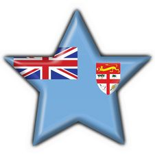 Fiji Button Flag Star Shape Royalty Free Stock Photo