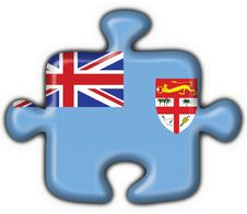 Fiji Button Flag Puzzle Shape Royalty Free Stock Images