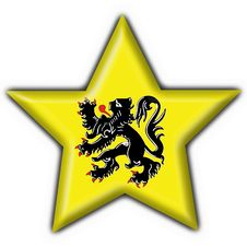 Free Flanders Button Flag Star Shape Royalty Free Stock Image - 4924656