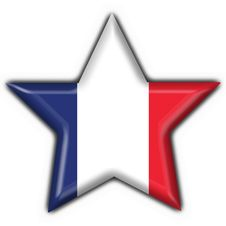 French Button Flag Star Royalty Free Stock Image