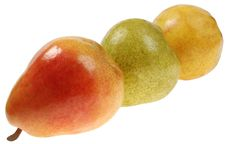 Free Three Colorful Pears Stock Image - 4925261