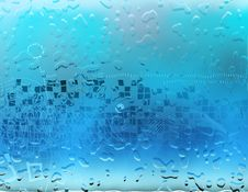 Free Aqua Water Drops Background Stock Photography - 4925432