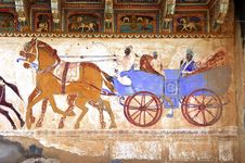 India, Mandawa: Colourful Frescoes Stock Photos