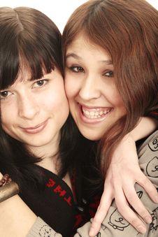 Free Happy Girlfriends Stock Photo - 4926190