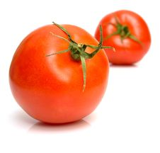 Free Tomato On The White Stock Images - 4926914