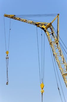 Lifting Crane With Two Hook Royalty Free Stock Photo