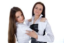 Two Business Lady Royalty Free Stock Photography