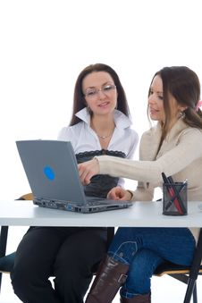Free Business Women Work With Laptop Stock Images - 4928504