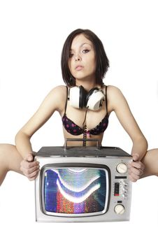 Free Tv Woman Stock Photos - 4928763