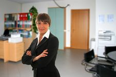 Free Business Woman In Office Royalty Free Stock Image - 4929026