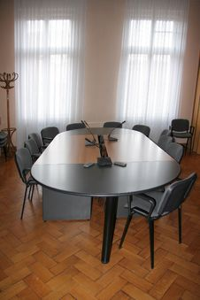 Empty Boardroom Meeting Area Royalty Free Stock Photography