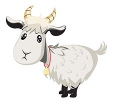 Cute Goat Royalty Free Stock Photo