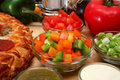 Free Bowl Of Green And Orange Bell Peppers Chopped Stock Photo - 4930670