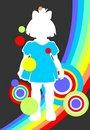 Free Girl And Rainbow Royalty Free Stock Photos - 4931458
