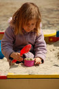 Free Girl Playing With Sand Stock Photo - 4932760
