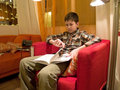 Free Boy Reading A Book Royalty Free Stock Images - 4937589