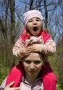 Free Girl With Mum Stock Photo - 4939520