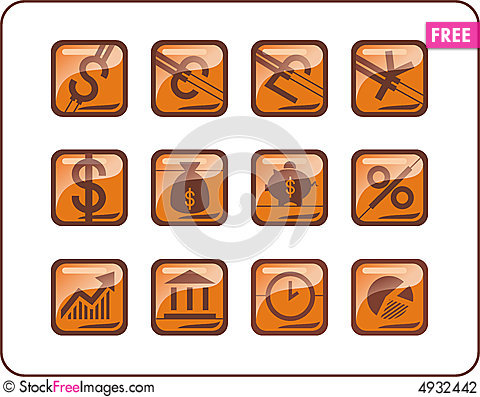 Free A Set Of Common Used Web Button Stock Photography - 4932442