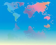 Free Colorful World Map Stock Photo - 4930120
