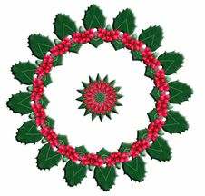 Free Original Holly Wreath Stock Images - 4930254