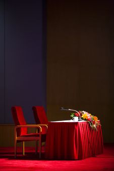 Free Waiting Lecture Stage Stock Images - 4930514