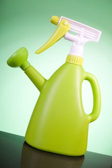Free Green Plastic Watering Can Royalty Free Stock Photography - 4930807
