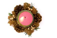 Free X-mass Burning Candles Stock Photo - 4931330