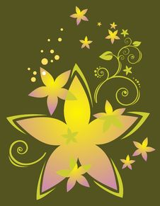 Free Dark Floral Pattern Royalty Free Stock Photos - 4931428