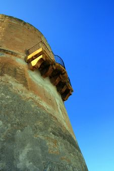Free Ancient Tower Balcony, Sicily Stock Image - 4931501