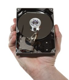 Free Hand,hard Disk 1 Stock Photography - 4931522