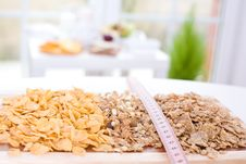 Free Cereal And Measure Tape Stock Photos - 4931623