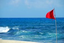 Free Caribbean Red Flag Royalty Free Stock Image - 4931926