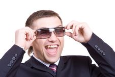 Free Funny Man In A Glasses Royalty Free Stock Photography - 4932017