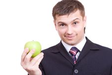 Free Guy With Apple Stock Images - 4932024